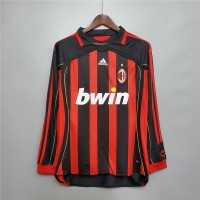 AC Milan 2006 2007 Home Football Shirt Long Sleeves