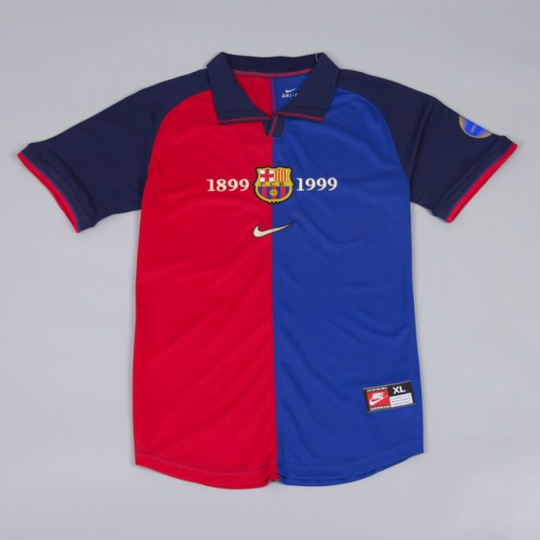 Barcelona 1999-2000 Home Football Shirt