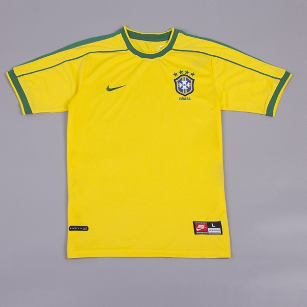 Brazil 1998 Home Football Shirt