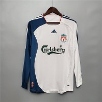 Liverpool 2006 2007 Away Football Shirt Long Sleeve