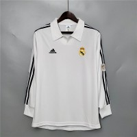 Real Madrid 2001-2002 Home Football Shirt Long Sleeves