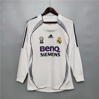 Real Madrid 2006-2007 Home Football Shirt Long Sleeves