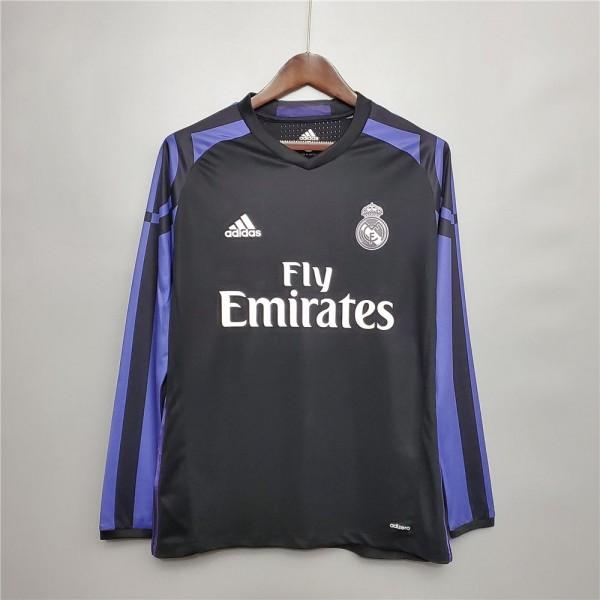 Real Madrid 2015 2016 Away Football Shirt Long Sleeve